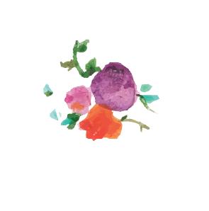 手描き小花ベクターフリー素材