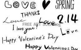バレンタインベクター素材セットフリー