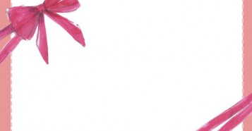 手描きリボンフレーム背景素材