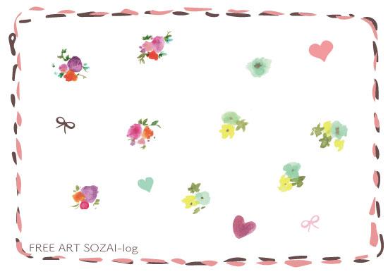 手描き小花ベクター素材