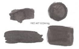 薄墨パーツセットベクター素材フリー素材