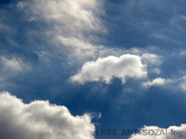 背景素材「神秘的な雲・空の写真画像」 | FREE ART SOZAI-log