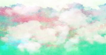 パステルふんわり雲背景素材