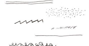 素朴手描き下線素材