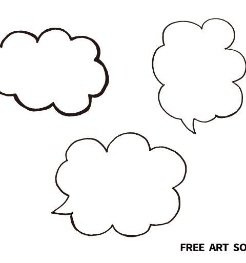 漫画風手描き吹き出しフリー素材