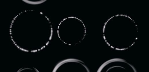 光っている円形Photoshopブラシ