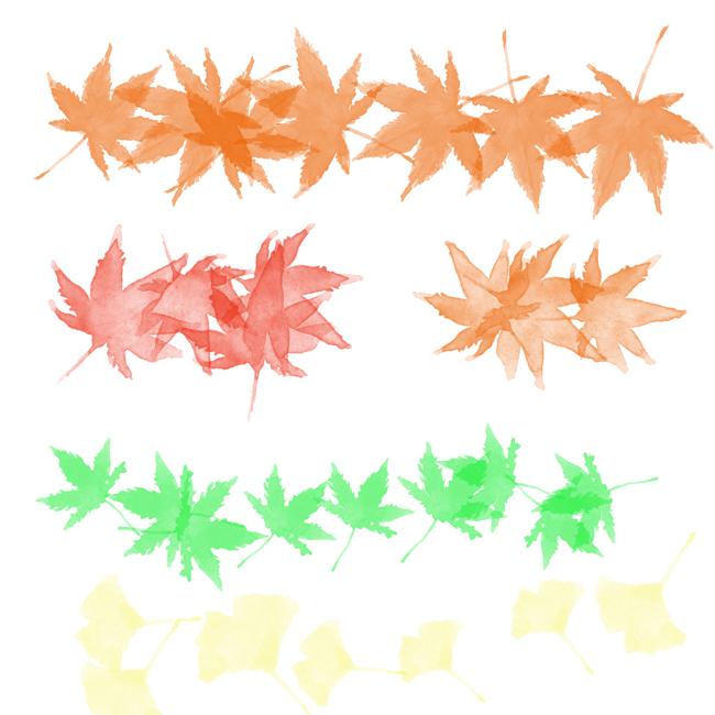 秋のPhotoshopブラシ
