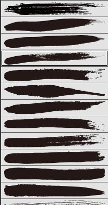 墨illustratorブラシ