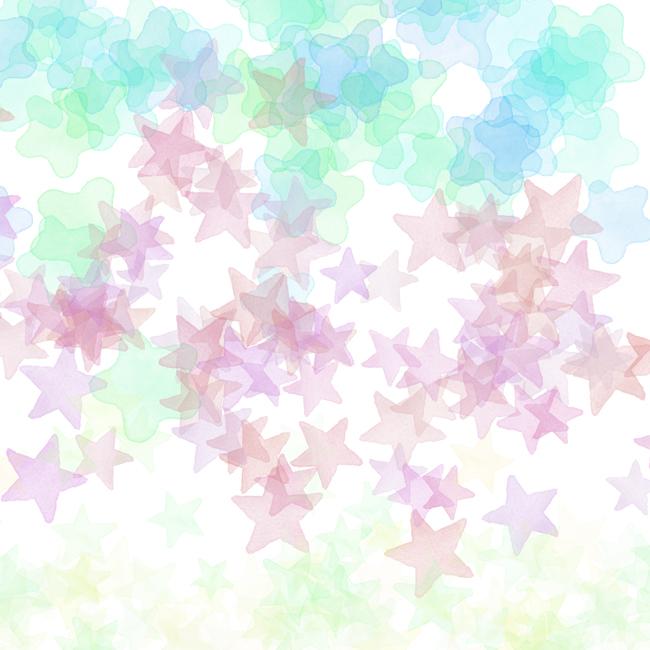 手描き水彩星Photoshopブラシ